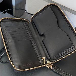Rebecca Minkoff black wallet tech wristlet zip